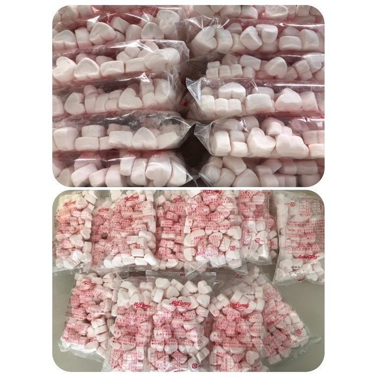ハートマシュマロ ピンク 送料無料 (5千円以上) お菓子作り 製菓材料 トッピング 業務用 コラーゲン BBQ 保存料 卵不使用 お子様に 安心 mcluney-marshmallow 08