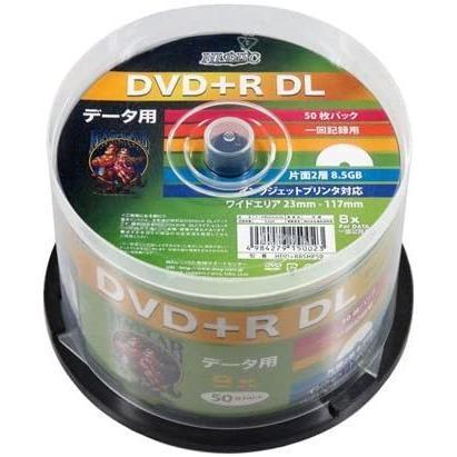 データ用DVD+R DL 片面2層 8.5GB 8倍速 インクジェット対応 50枚スピンドルケース HDD+R85HP50 - 磁気研究所|mcodirect