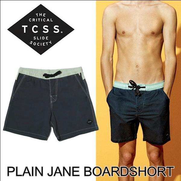 TCSS ボードショーツ メンズ 水着 ティーシーエスエス PLAIN JANE BOARDSHORT PHANTOM スイムショーツ 2019新作