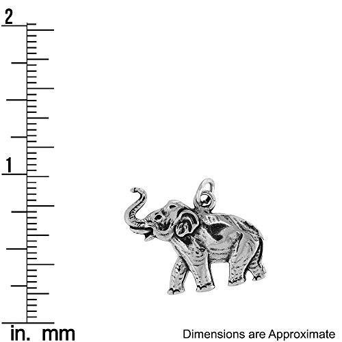 【期間限定】 スターリングシルバー象Raisedトランクフラットチャーム(約22*x 24*mm, PAIKAJI(アロハシャツ ショップ) 93e986ee