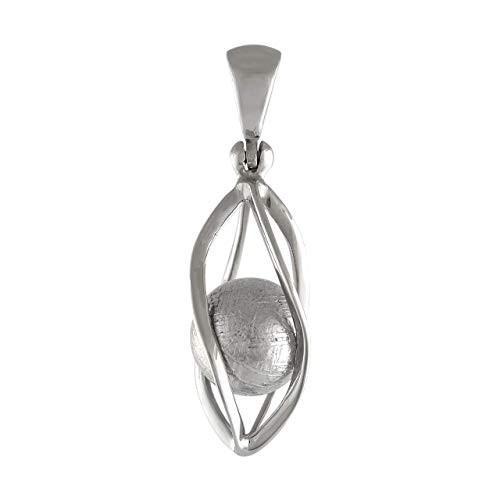 適切な価格 StarbornスターリングシルバーケージセットGibeon Meteorite球ペンダント, インカムショップ 90b63664
