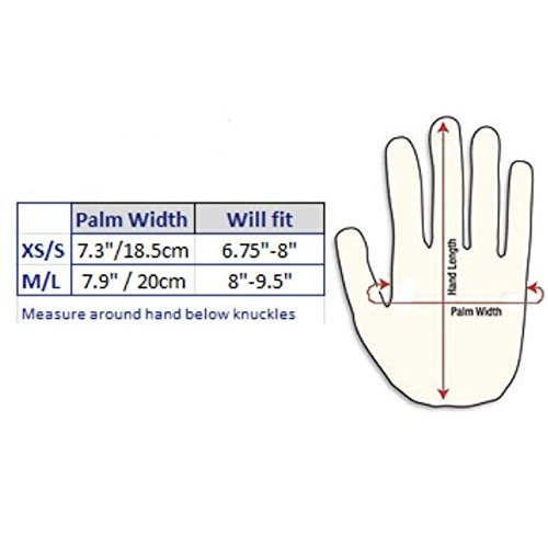 TiteグリップネオプレンAerialフィットネス手袋のポールダンス&重量トレーニング(XS/S, Fuchsia)