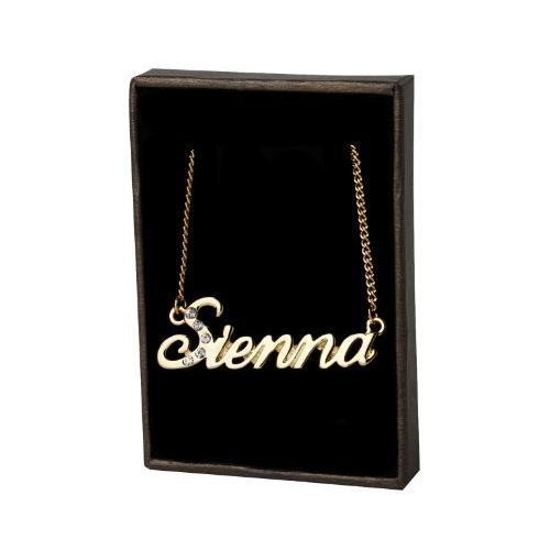 """珍しい 名前ネックレス"""" Sienna"""" 18*Kゴールドメッキ, ブドウショップ 26f0e158"""