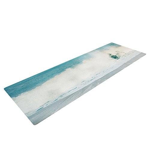 "KessインハウスIngridベドーズ"" Ocean 青s""ヨガ練習マット、波、72*x 24インチ"