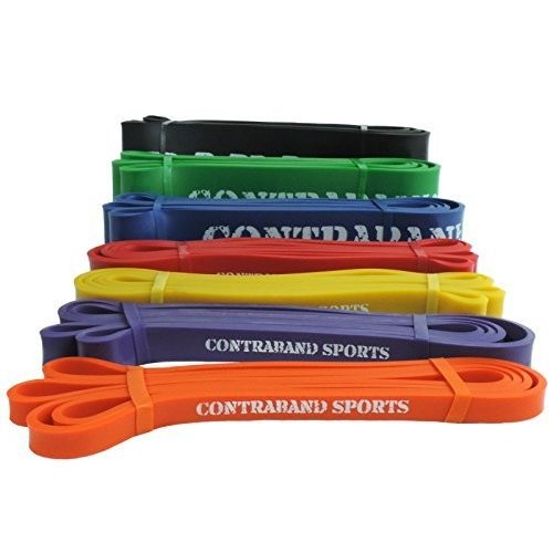 (100cm , 0 オレンジ) - Contraband Sports 7419 Resistance Bands, Weight