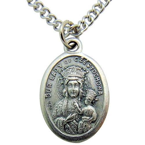 大勧め Our Lady of Lady Czestochowaメダル3* Our/ 4インチメタルSaintギフトwithステンレススチールチェーン, ベクトル 新都リユース:ee126d6d --- airmodconsu.dominiotemporario.com