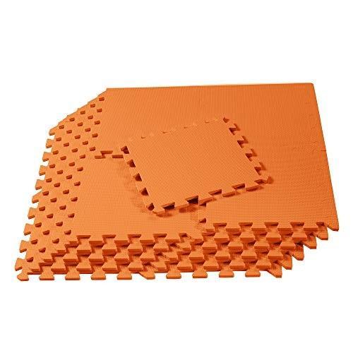 We Sell Mats インターロッキング ボーダー付きスクウェアフロアタイル 子供部屋で 地下室で 72 Sq Ft (72 Tiles)