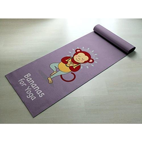 Bananas forヨガ***Cute Monkeyヨガマット***Practiceスタイル[ギフトアイデア/楽しい存在]練習でヨガマット/
