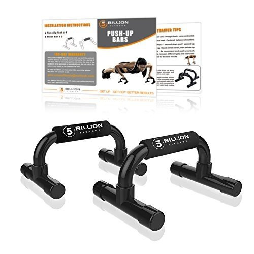 円高還元 (Black) - 5BILLION Push Up Bars - Workout For Home Gym & Fitness -, カワサキマチ 569917e1