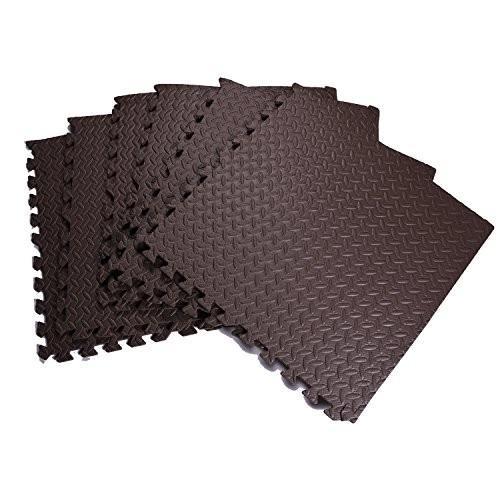 EVA発泡マット、EVA発泡床マット、EVA連動発泡タイル、フィットネスのときに床を保護する(6枚)
