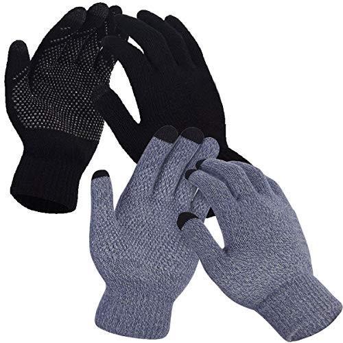 【同梱不可】 COME2LOOK メンズ&レディース 手袋 カップル ノンスリップ タッチスクリーン 手袋 冬用 暖かい ニット ニット カップル ウール裏地 手袋, ニット生地shop BOBBIN:b05a02e2 --- airmodconsu.dominiotemporario.com