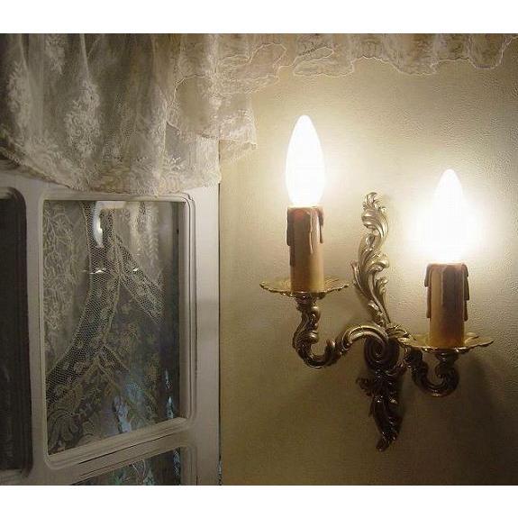 フランスアンティークスタイルのツインキャンドルブラケットライト(LEFT)( フランスアンティークスタイルのツインキャンドルブラケットライト(LEFT)( ロウソク型壁付け照明ランプ)