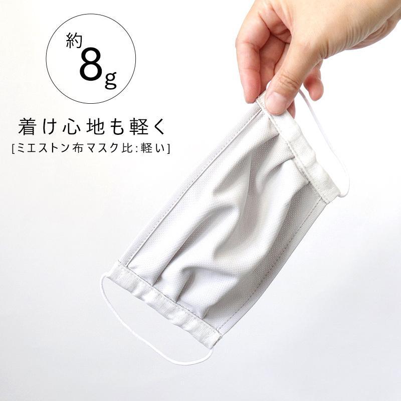 マスク 日本製 夏 吸水速乾 UVカット 紫外線カット 98% UPF50 レディース メンズ 息らく 肌さら クイックドライ ブラック グレー ホワイト //メール便発送可 me-eston 05