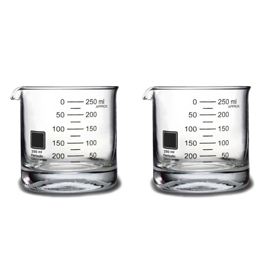 ビーカーロックグラス(2個) Periodic Tableware|measureworks