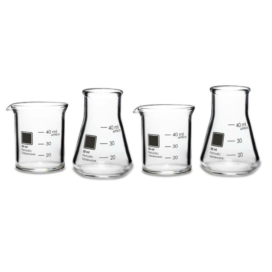 ラボラトリーショットグラス(4個) Periodic Tableware measureworks