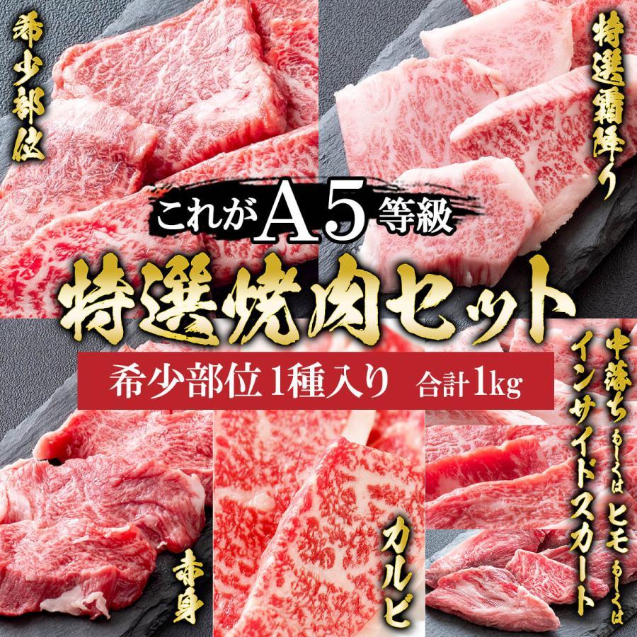 肉 牛肉 A5ランク 和牛 特上 焼肉 5種盛り 焼肉セット 1kg 国産 A5等級 高級 焼き肉 BBQ バーベキュー|meat-tamaya|04