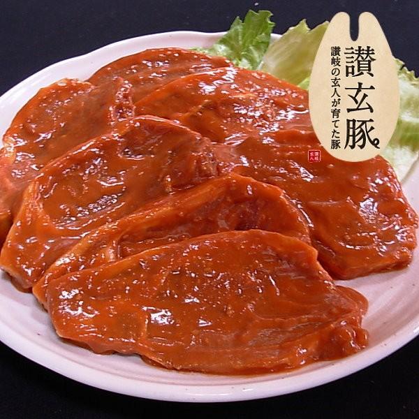 国産豚肉 ロース味噌漬け100gx1枚/おいしい香川県産の豚肉 「讃玄豚」 meatpiasanuki