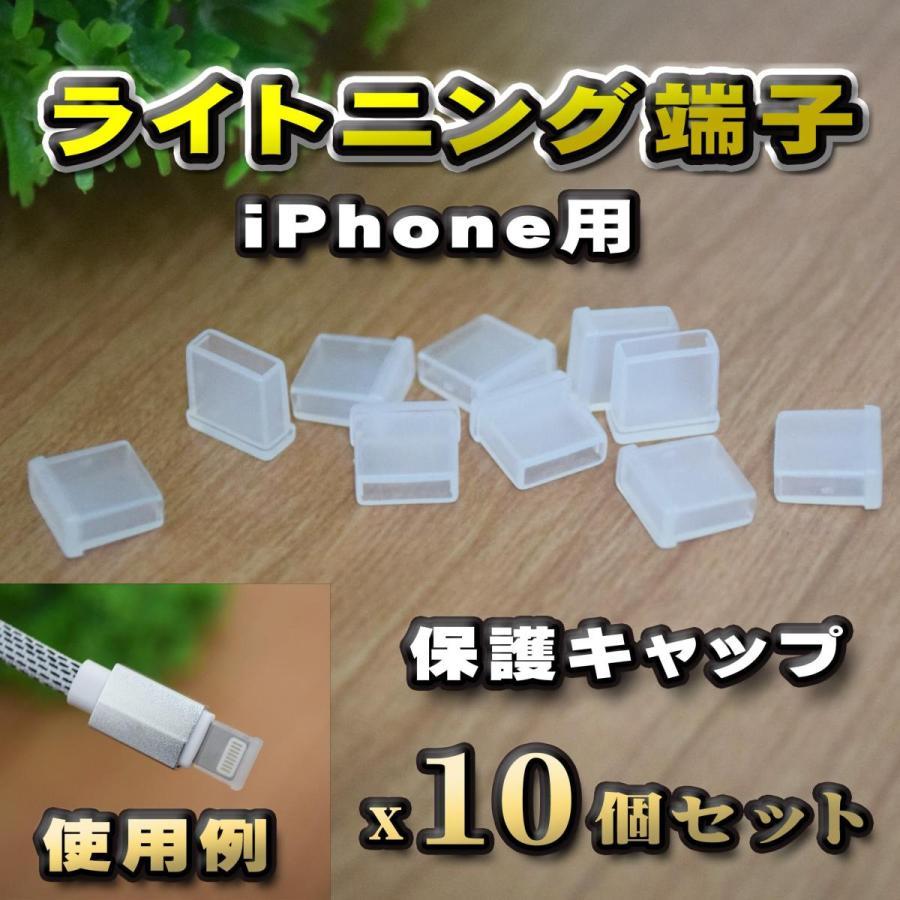 端子キャップ ライトニング端子 iPhone用 コネクター カバー 端子カバー カバーキャップ 10個セット 保護 国際ブランド クリア カラー 中古