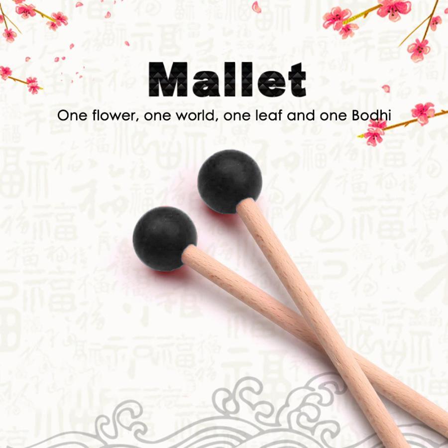 ブラック 先端ゴム製 マレット mallet チャイム 買い取り 2本1セット 大幅値下げランキング 音叉 などに最適 木琴