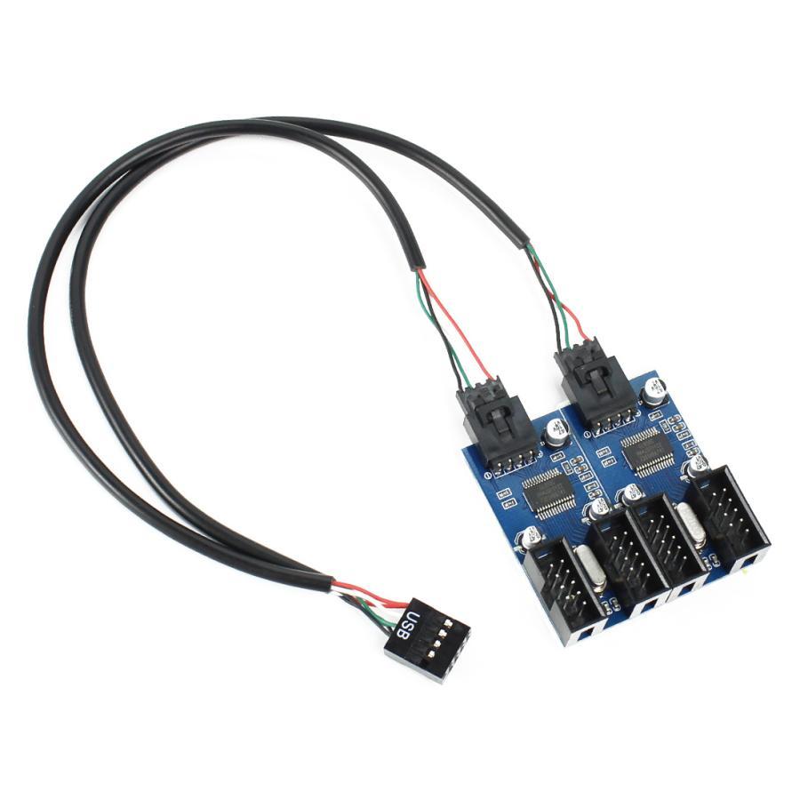 内部USB9ピン電源用 マザーボードのUSB 9ピン 新登場 増設 内部用 4ポート オープニング 大放出セール 内部USB9ピンを4ポート拡張タイプ