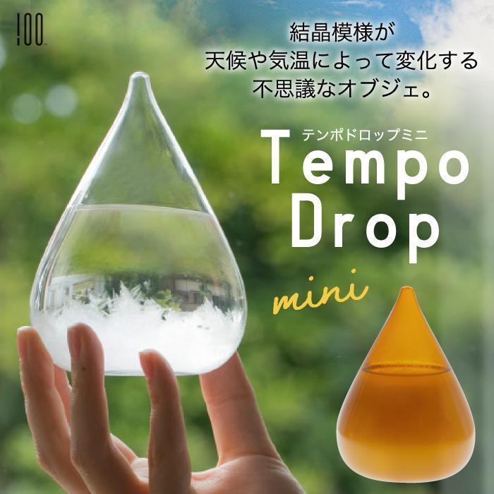 Tempo Drop テンポドロップ ミニ ストームグラス ガラス オブジェ インテリア雑貨 おしゃれ 天候予測器 天気予報 結晶 置物 飾り 気象計 晴雨予報 北欧 お祝い mecu 02