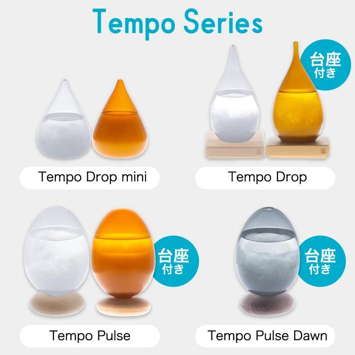 Tempo Drop テンポドロップ ミニ ストームグラス ガラス オブジェ インテリア雑貨 おしゃれ 天候予測器 天気予報 結晶 置物 飾り 気象計 晴雨予報 北欧 お祝い mecu 11