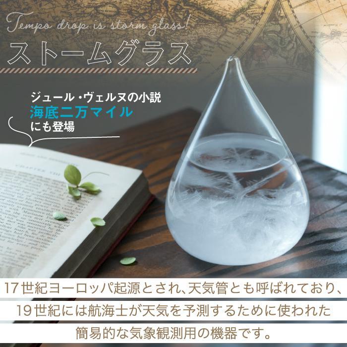 Tempo Drop テンポドロップ ミニ ストームグラス ガラス オブジェ インテリア雑貨 おしゃれ 天候予測器 天気予報 結晶 置物 飾り 気象計 晴雨予報 北欧 お祝い mecu 03