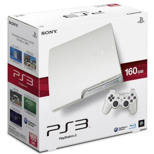 『中古即納』{本体}{PS3}プレイステーション3 PlayStation3 HDD160GB クラシック・ホワイト(CECH-2500ALW)(20100729)
