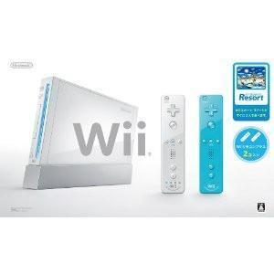 『中古即納』{本体}{Wii}Wii(シロ)(Wiiリモコンプラス青/白各1個&Wiiスポーツリゾート同梱)(RVL-S-WABG)(20110623)
