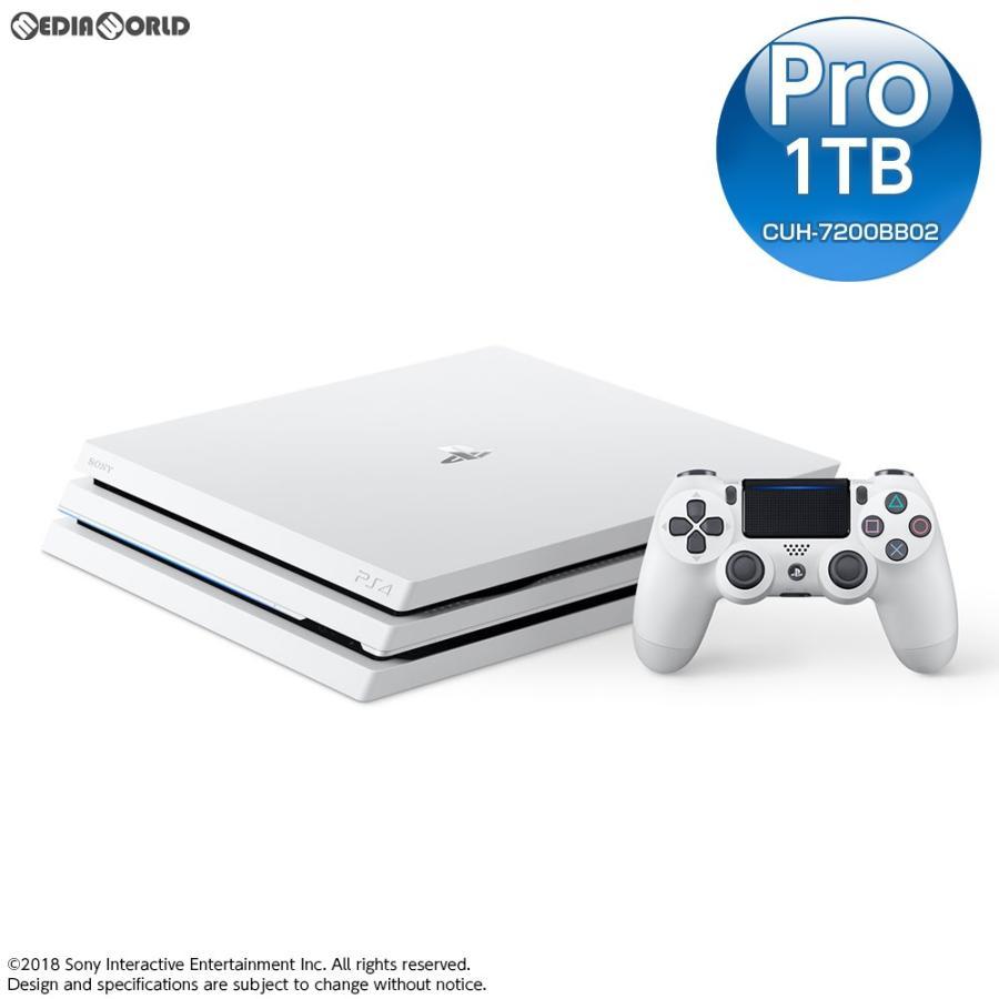『新品即納』{本体}{PS4}プレイステーション4 プロ PlayStation4 Pro グレイシャー・ホワイト 1TB(CUH-7200BB02)(20181012)
