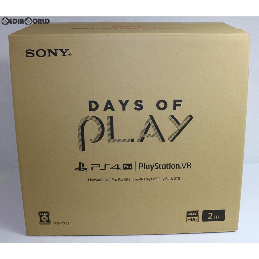 『中古即納』{本体}{PS4}プレイステーション4 プロ PlayStation4 Pro PlayStation VR Days of Play Pack(デイズ オブ プレイ パック) 2TB(UHJ-10029)(20190607)