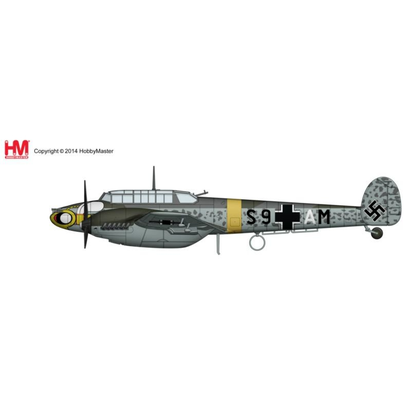 『新品即納』{PTM}HA1811 1/72 Bf-110E 第1駆逐航空団 完成品 ホビーマスター(20141220)