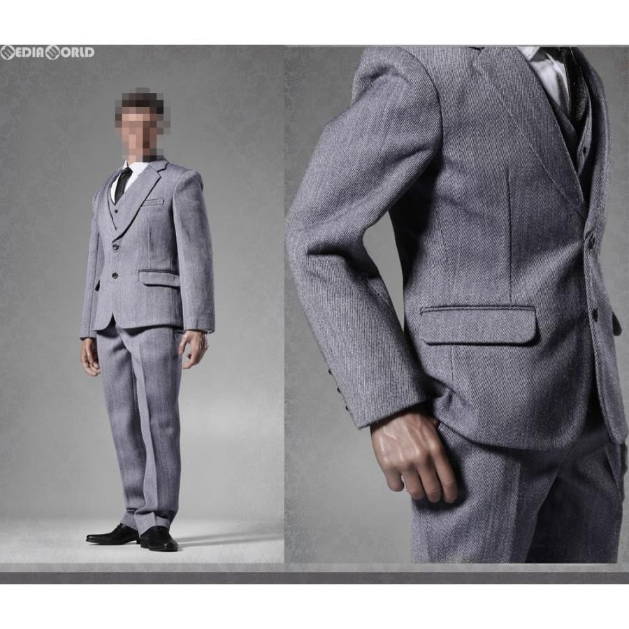 『新品即納』{FIG}1/6 メンズ スーツ セット グレー ドール用衣装(POP-X25C) ポップトイズ(20170726)