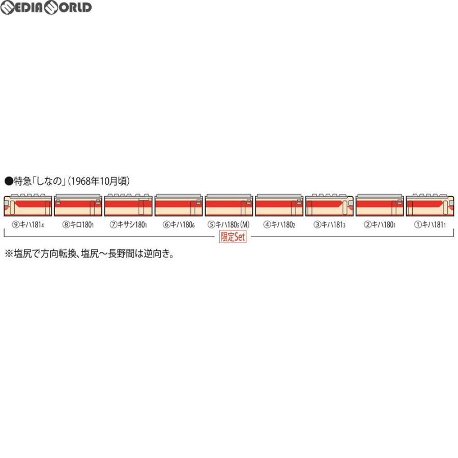 『新品』『O倉庫』{RWM}98996 限定品 国鉄 キハ181系特急ディーゼルカー(しなの)(室内灯入り)セット(9両) Nゲージ 鉄道模型 TOMIX(トミックス)(20190223)