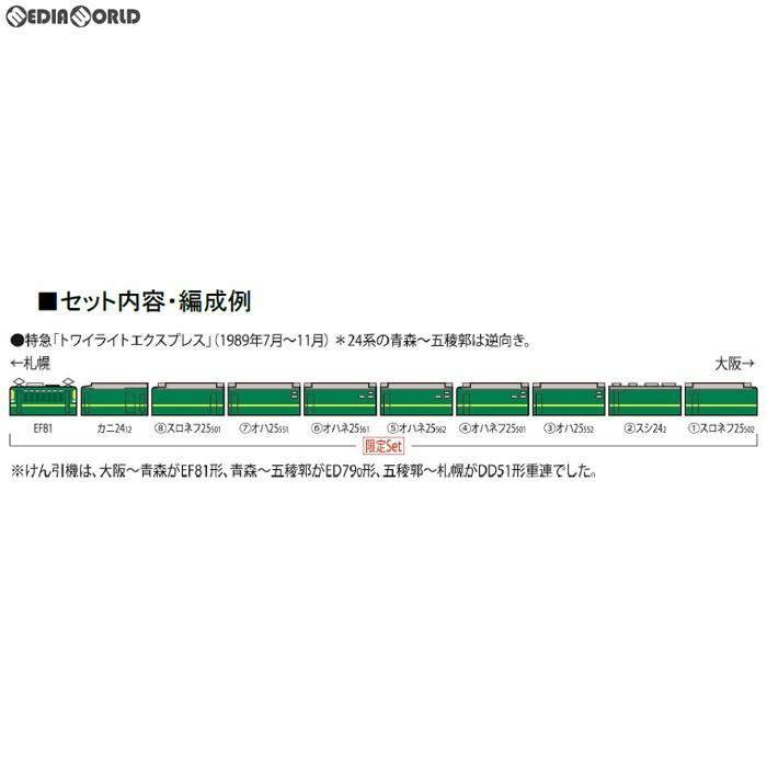 『新品』『O倉庫』{RWM}97903 限定品 JR EF81・24系(トワイライトエクスプレス・登場時)セット(10両) Nゲージ 鉄道模型 TOMIX(トミックス)(20190330)