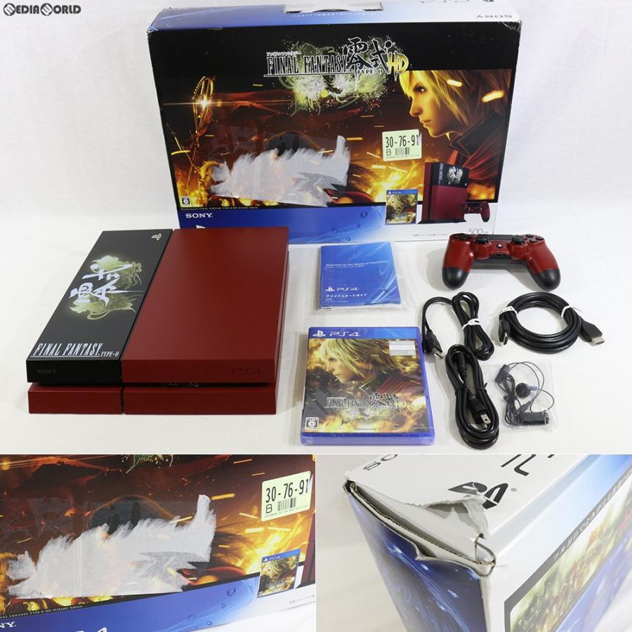 『中古即納』{訳あり}{本体}{PS4}プレイステーション4 PlayStation4 FINAL FANTASY 零式 HD 朱雀エディション(CUHJ-10008)(20150319)