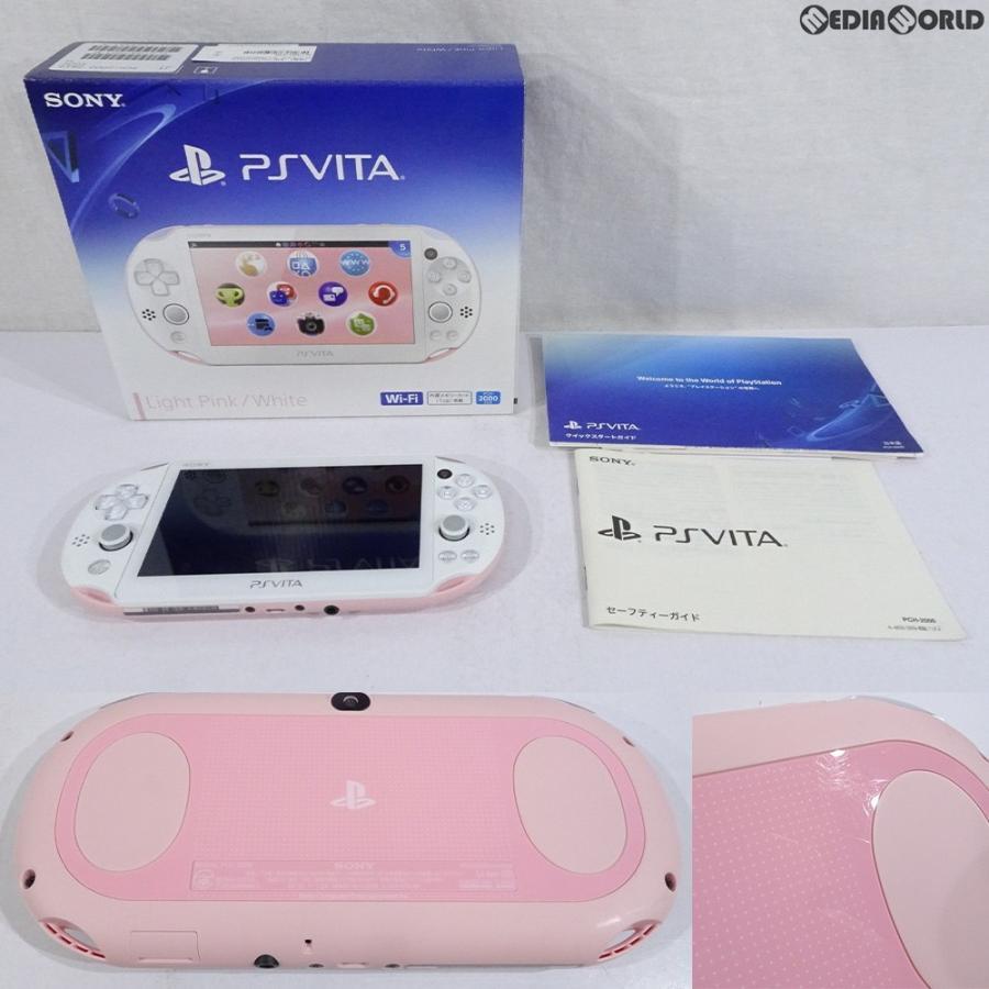 『中古即納』{訳あり}{本体}{PSVita}PlayStation Vita Wi-Fiモデル ライトピンク/ホワイト(PCH-2000ZA19)(20141113)