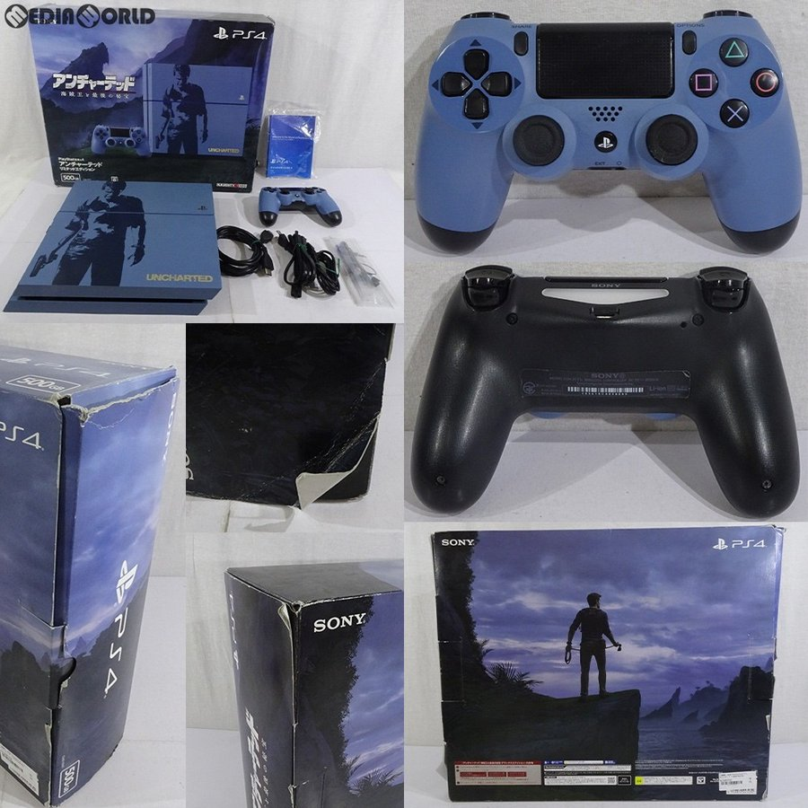 『中古即納』{訳あり}{本体}{PS4}PlayStation 4 アンチャーテッド リミテッドエディション(CUHJ-10011)(20160510)