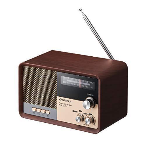 サンスイ Bluetoothスピーカー 情熱セール AM FMラジオ付き お得 MSR-1 WD ウッド