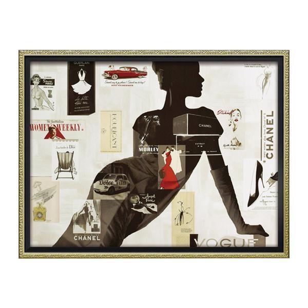 ユーパワー ユーパワー オマージュ キャンバスアート 「ハイファッション1(Mサイズ)」 BC-12037 代引き不可/同梱不可