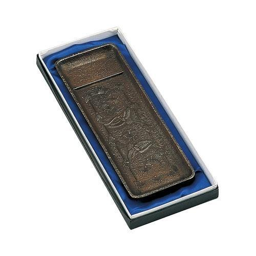 高岡銅器 高岡銅器 高岡銅器 銅製小物 ペン皿 松鶴文 55-08 代引き不可/同梱不可 89e