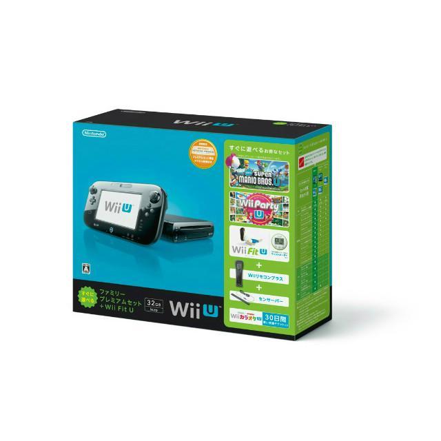 『中古即納』{本体}{WiiU}Wii U すぐに遊べるファミリープレミアムセット+Wii Fit U(クロ)(WUP-S-KAFT)(20131031)