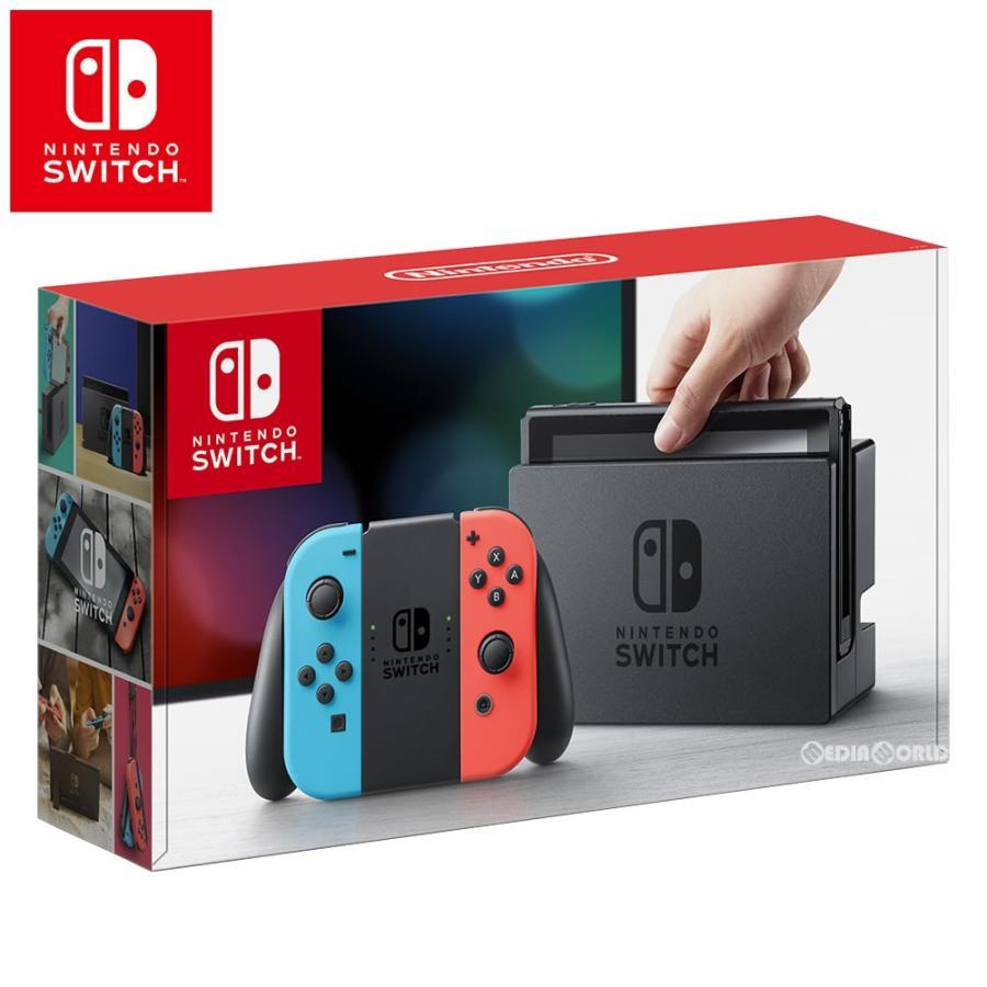 『中古即納』{B品}{本体}{Switch}Nintendo Switch(ニンテンドースイッチ) Joy-Con(L) ネオンブルー/(R) ネオンレッド(HAC-S-KABAA)(20170303)