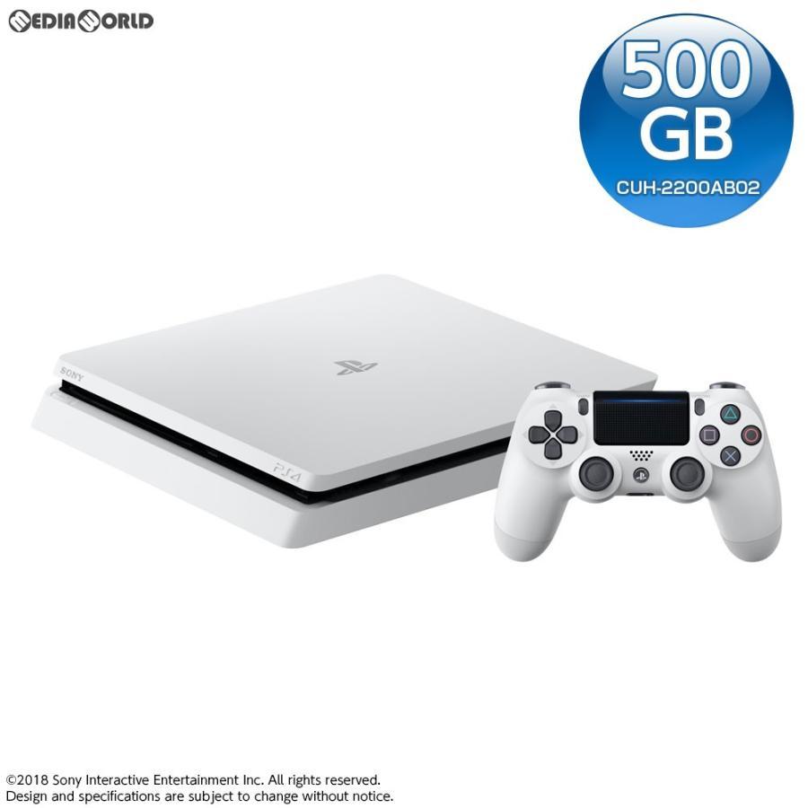 『中古即納』{本体}{PS4}プレイステーション4 PlayStation4 グレイシャー・ホワイト 500GB(CUH-2200AB02)(20180830)