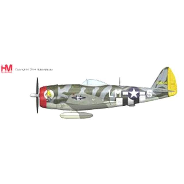 『新品即納』{PTM}HA8407 1/48 P-47D サンダーボルト デイビッド・シリング少佐機 完成品 ホビーマスター(20140530)