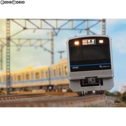 『新品即納』{RWM}30840 小田急3000形(3082編成・インペリアルブルー帯) 基本4両編成セット(動力付き) Nゲージ 鉄道模型 緑MAX(グリーンマックス)(20190831)