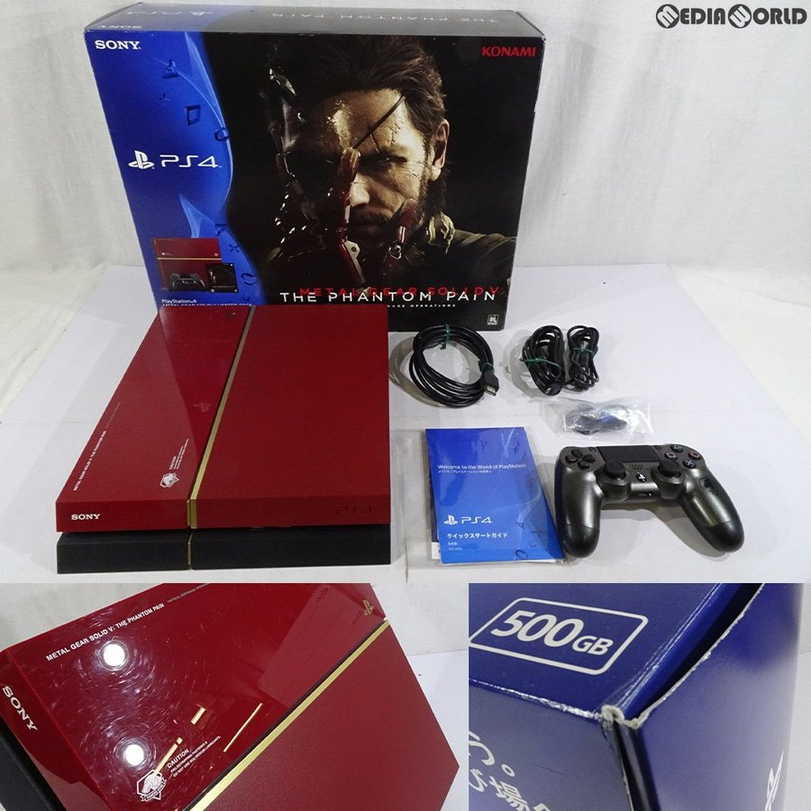 『中古即納』{訳あり}{本体}{PS4}PlayStation(R)4 METAL GEAR SOLID V LIMITED PACK THE PHANTOM PAIN EDITION(CUHJ-10009)(20150902)