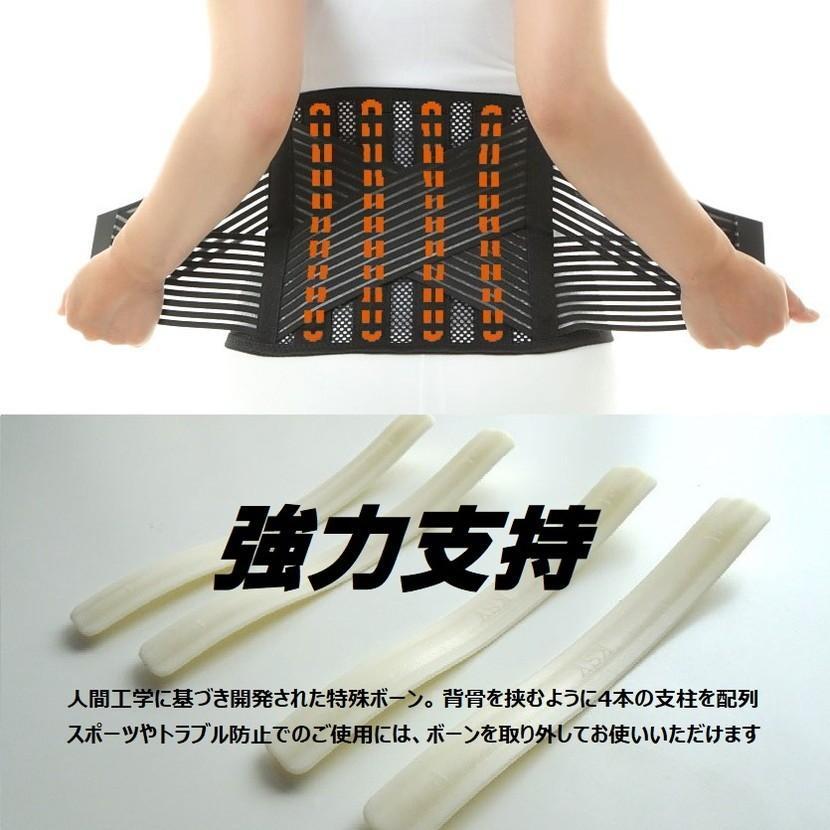 腰痛ベルト 腰痛 コルセット AIRLIFT クール メッシュ ハードフィットベルト HB03 medicollect 03