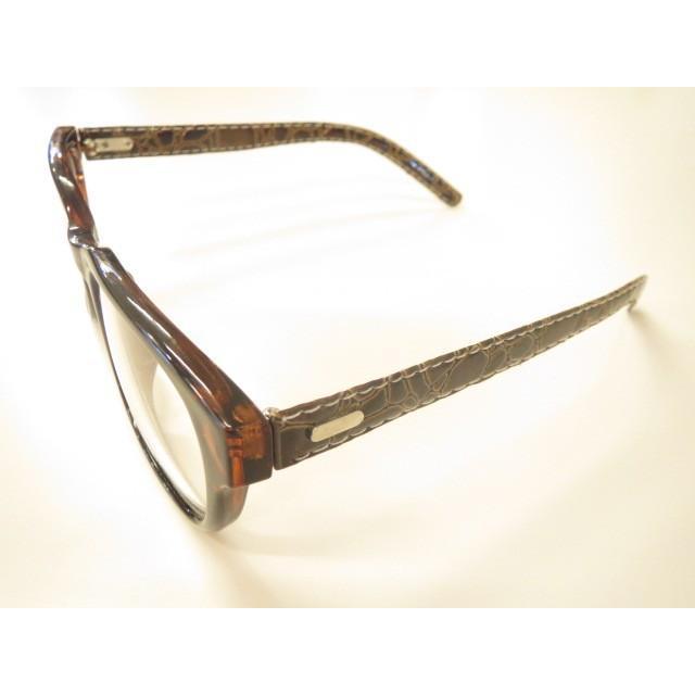 UVカット付きクリアレンズサングラス ウエリントン型(9306)デミブラウン|meganeno1|02