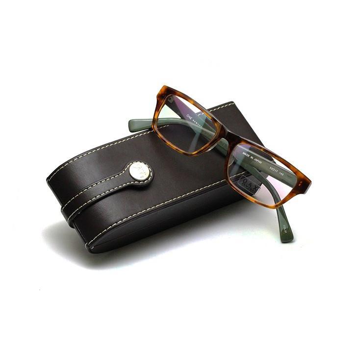 【ネット限定 訳アリ 売切り在庫処分】薄型レンズ付メガネセット O&X NewYork OP-137U-01 ブラウン/グリーン【ユニセックス】【男女兼用】【日本製】